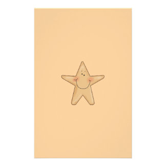 Cute Smiling Star Fish Cartoon Character Design Custom Stationery