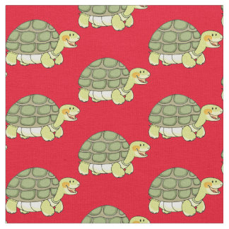 cute smiling tortoise fabric