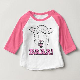Cute Smiling White Sheep Face Illustration Baaa Baby T-Shirt