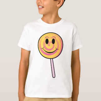 Cute Smiling Yellow Cartoon Lollipop T-Shirt