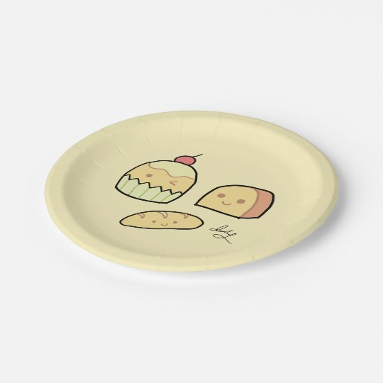 Cute Snacks - Party Paper Plates