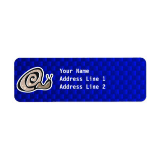 Cute Snail; Blue Return Address Label