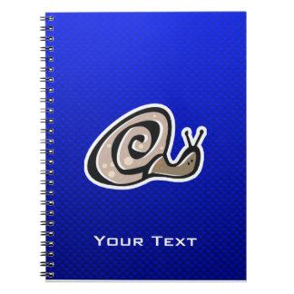 Cute Snail Blue Note Books