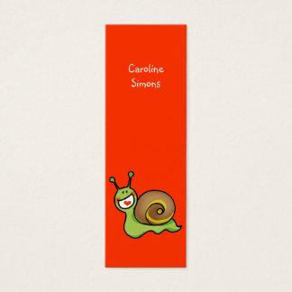 Cute snail bookmark mini business card