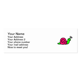 Cute snail pack of skinny business cards