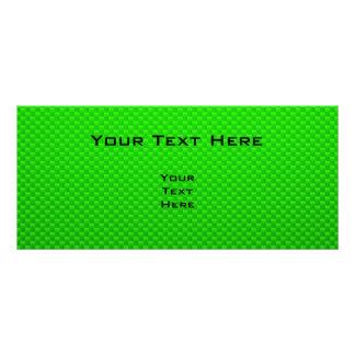 Cute Snail Green Customized Rack Card
