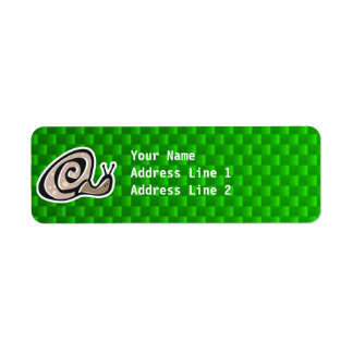 Cute Snail; Green Return Address Label