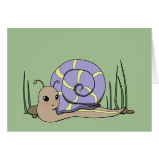 Cute snail greeting card