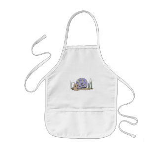 Cute snail kids apron