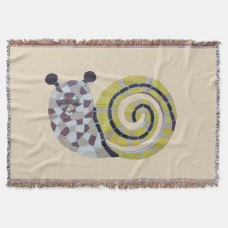 Cute Snail Mosaic Cust. Trow Blanket