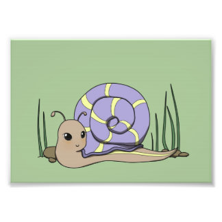 Cute snail photo print