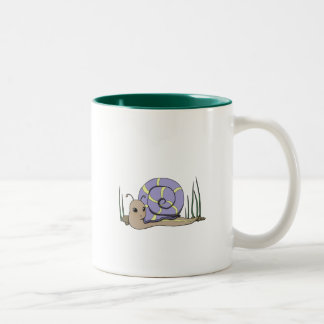 Cute snail Two-Tone coffee mug