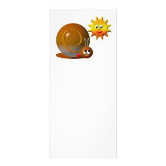 Cute snail with smiling sun custom rack cards