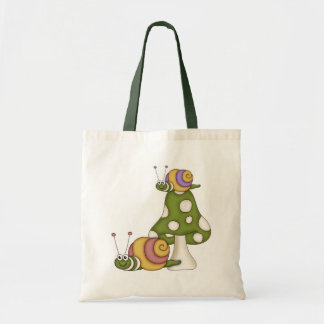 Cute Snails Tote Bag