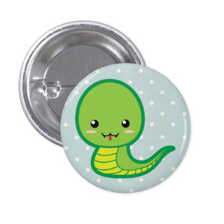 Cute Snake 3 Cm Round Badge