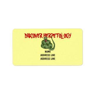 Cute Snake Lover Rattlesnake Herpetology Address Label