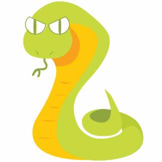 Cute Snake Standing Photo Sculpture