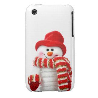 Cute Snow man Case-Mate iPhone 3 Cases
