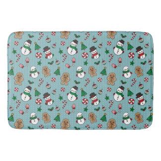 Cute Snow Pals bath mat