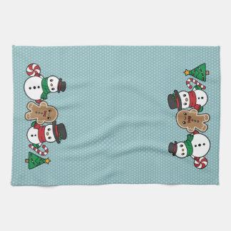 Cute Snow Pals kitchen towel