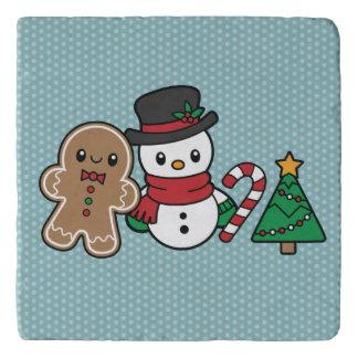 Cute Snow Pals trivet