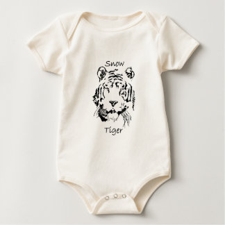 Cute Snow Tiger Baby Bodysuit