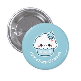 Cute Snowflake Cupcake 3 Cm Round Badge
