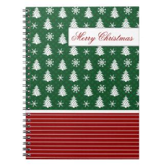 Cute Snowflakes & Christmas Trees Notebooks