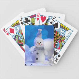 Cute Snowman Bicycle Playing Cards