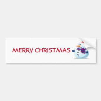 Cute Snowman Bumper Sticker