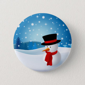 Cute Snowman Button