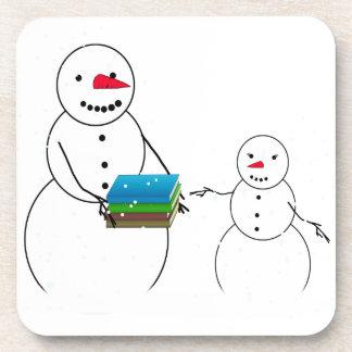 Cute Snowman Child Back To School Drink Coaster