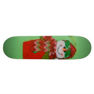 Cute snowman Christmas decoration Skateboards
