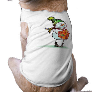 Cute Snowman Christmas Dog t-shirt