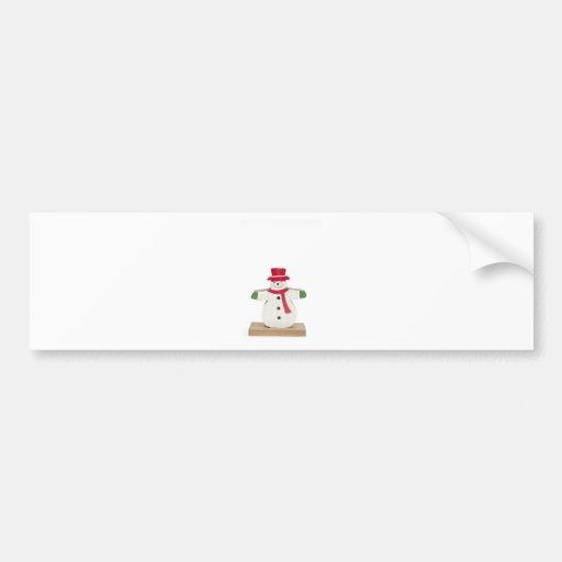 cute snowman Christmas gift Bumper Stickers