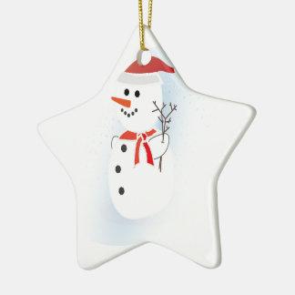 Cute Snowman Christmas Ornament
