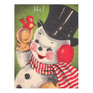 Cute Snowman Christmas Postcards