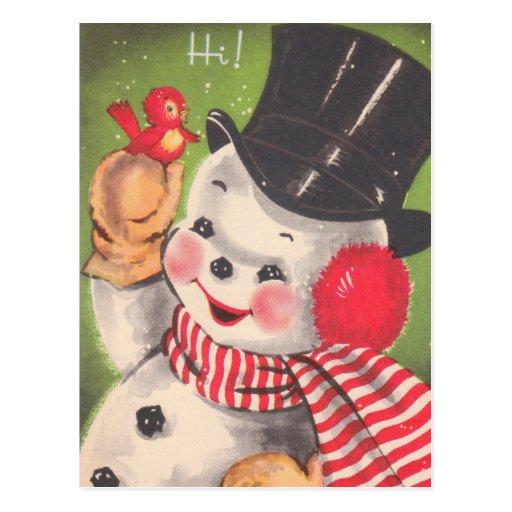 Cute Snowman Christmas Postcards