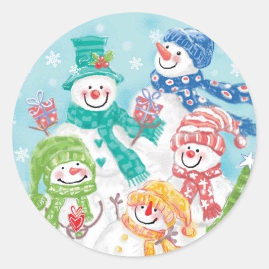 Cute Snowman Christmas sticker