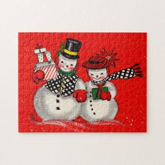 Cute Snowman Couple Puzzles