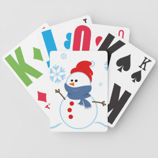 Cute Snowman Deck of Cards