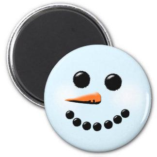 Cute Snowman Face Winter Holiday Snowmen Magnet