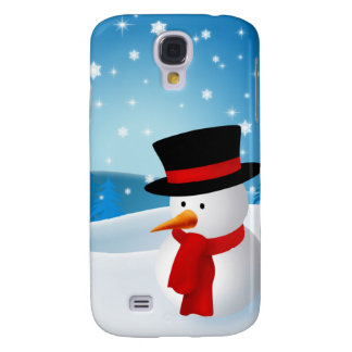Cute Snowman Galaxy S4 Case