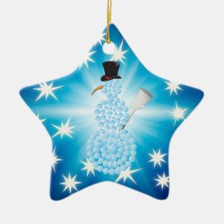 Cute Snowman | Happy Holidays Christmas Ornament