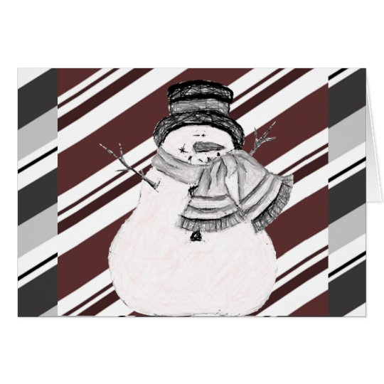 Cute Snowman Holiday Greeting Card