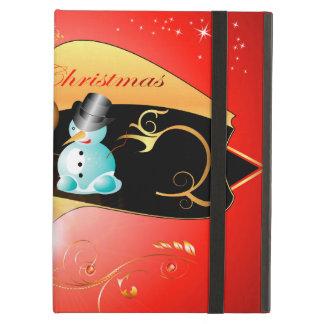 Cute snowman iPad air cases