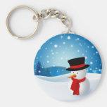 Cute Snowman Keychain