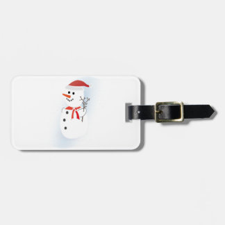 Cute Snowman Luggage Tag