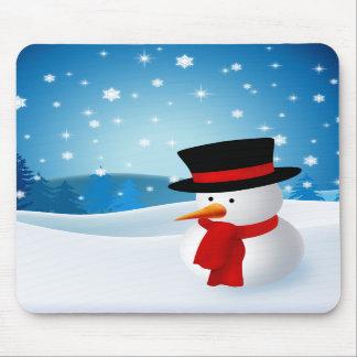 Cute Snowman Mousepad
