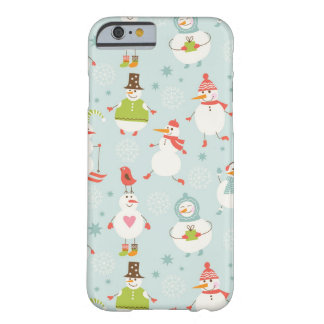 Cute Snowman Pattern Barely There iPhone 6 Case